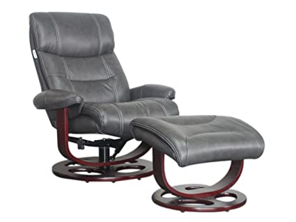 Excellent Barcalounger Dawson 15 8038 Leather Pedestal Recliner Chair And Ottoman 3609 96 Chelsea Graphite Leather With White Glove In Home Delivery And Setup Andrewgaddart Wooden Chair Designs For Living Room Andrewgaddartcom