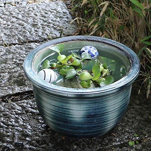 信楽焼 10号藍の色 すいれん鉢