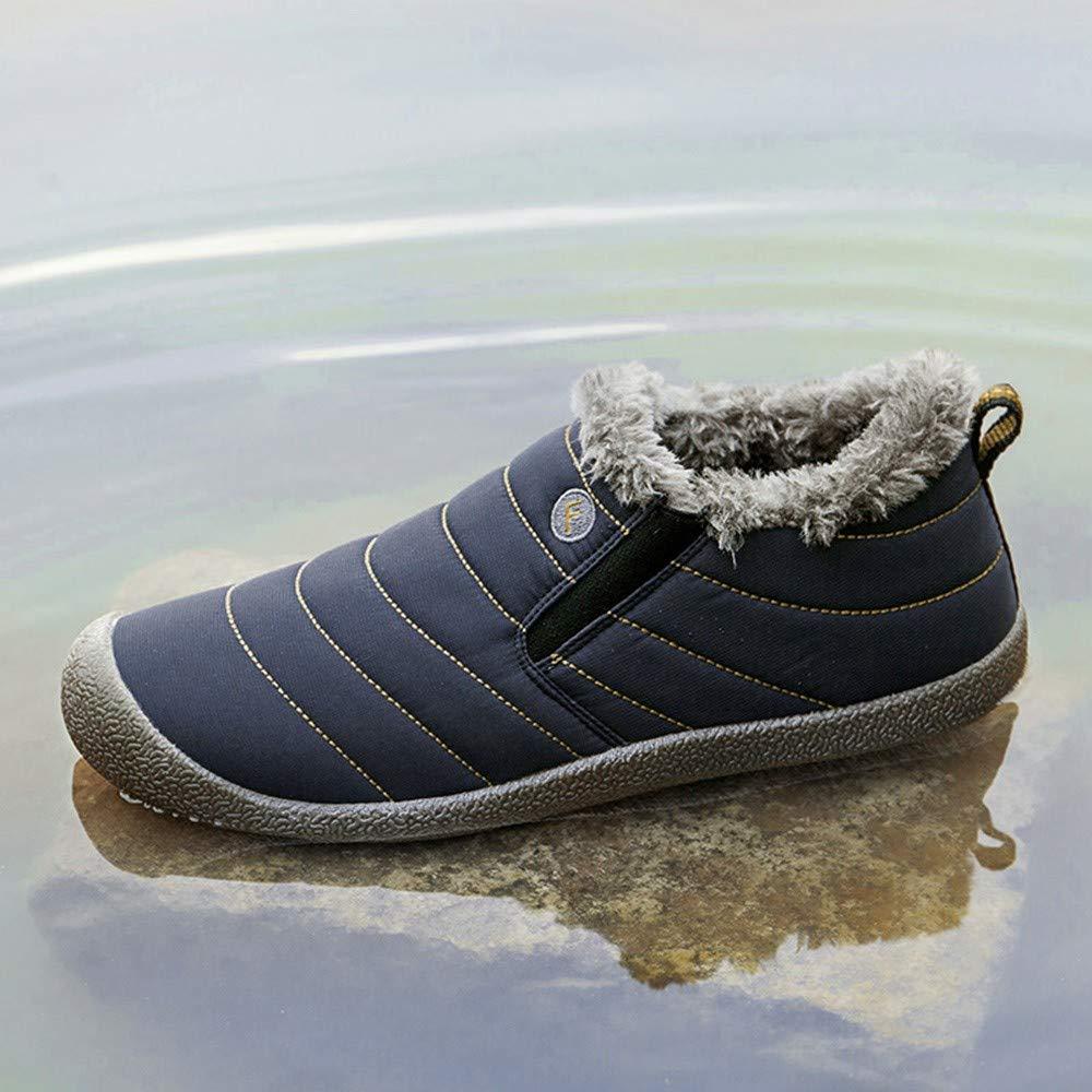 ❤ Zapatos Impermeables para Mujeres, Botas de Nieve sin Cordones Zapatos de algodón Impermeables y de Terciopelo para Mujer Más Botas de Nieve Botines ...