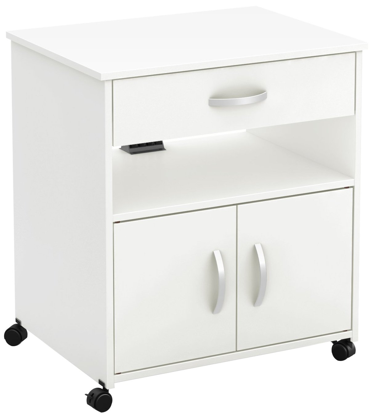 South Shore Axess Printer Cart on Wheels, Pure White