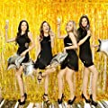 Photo Booth Backdrop for Pictures Foil Fringe Curtain Gold Birthday Decorations Party Supplies