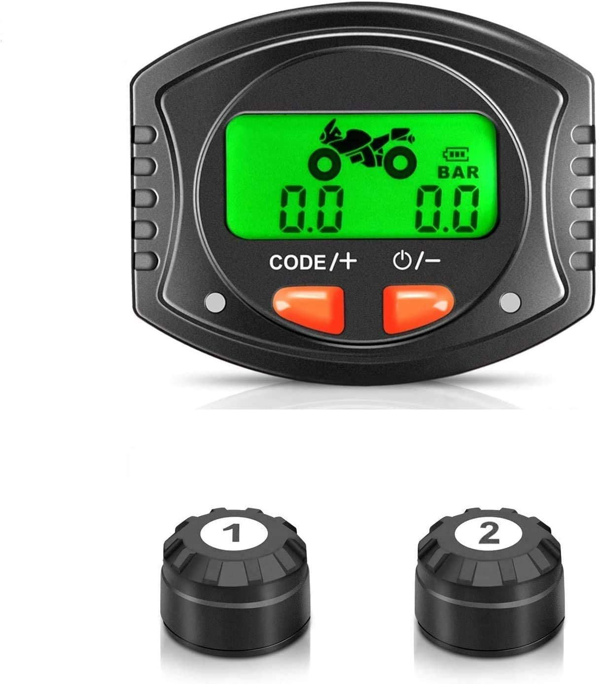 - Wireless Tire Pressure Monitoring System with 4pcs External Sensors -40℃~80℃ Tymate TPMS Solar Power with HD LCD Screen- Real-time Displays 4 Tires Pressure 0-6.0 BAR - 6 Alarm Modes Temperature