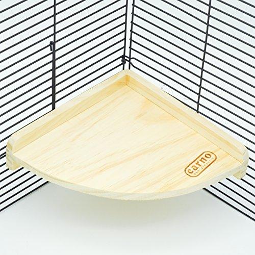 Image of Niteangel Fan Shape Wooden Platform, Hamster Small Animal Platform