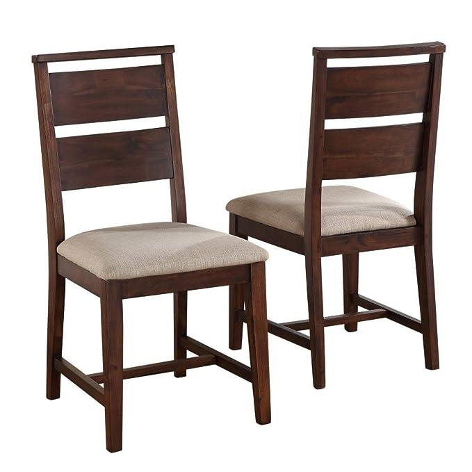 Swell Modus Furniture 7Z4866 Portland Solid Wood Dining Chair Walnut Inzonedesignstudio Interior Chair Design Inzonedesignstudiocom