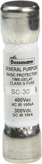 Cooper Bussmann SC-30 A 300 VAC Class G 30 Amp Fuse Lot 2 2