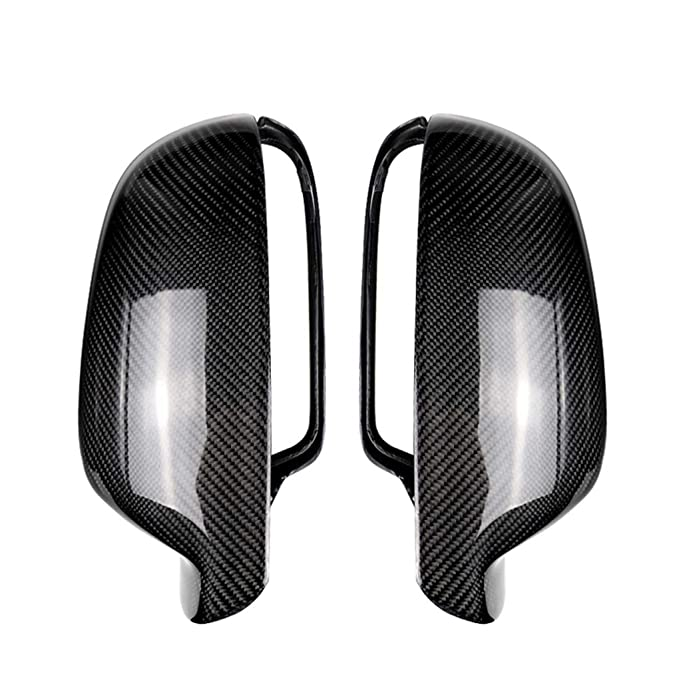 Pair Black Wing Side Mirror Cover Cap Hosing Casing For AUDI A4 B8.5 S4 A3 S3 A5