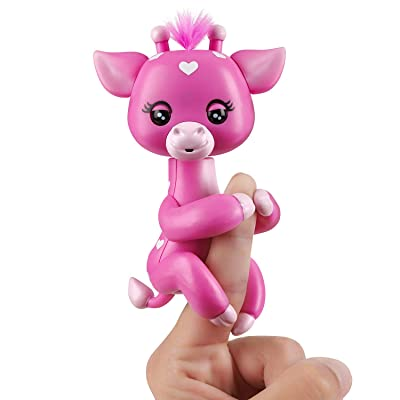 WowWee Fingerlings Baby Giraffe - Meadow (Pink) - Friendly Interactive Toy: Toys & Games