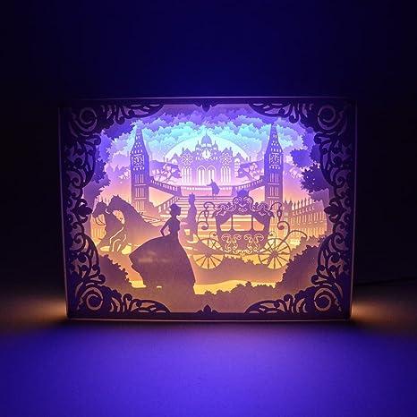 Paper Cutting Light Box 3D Shadow 17W USB LED Night Creative