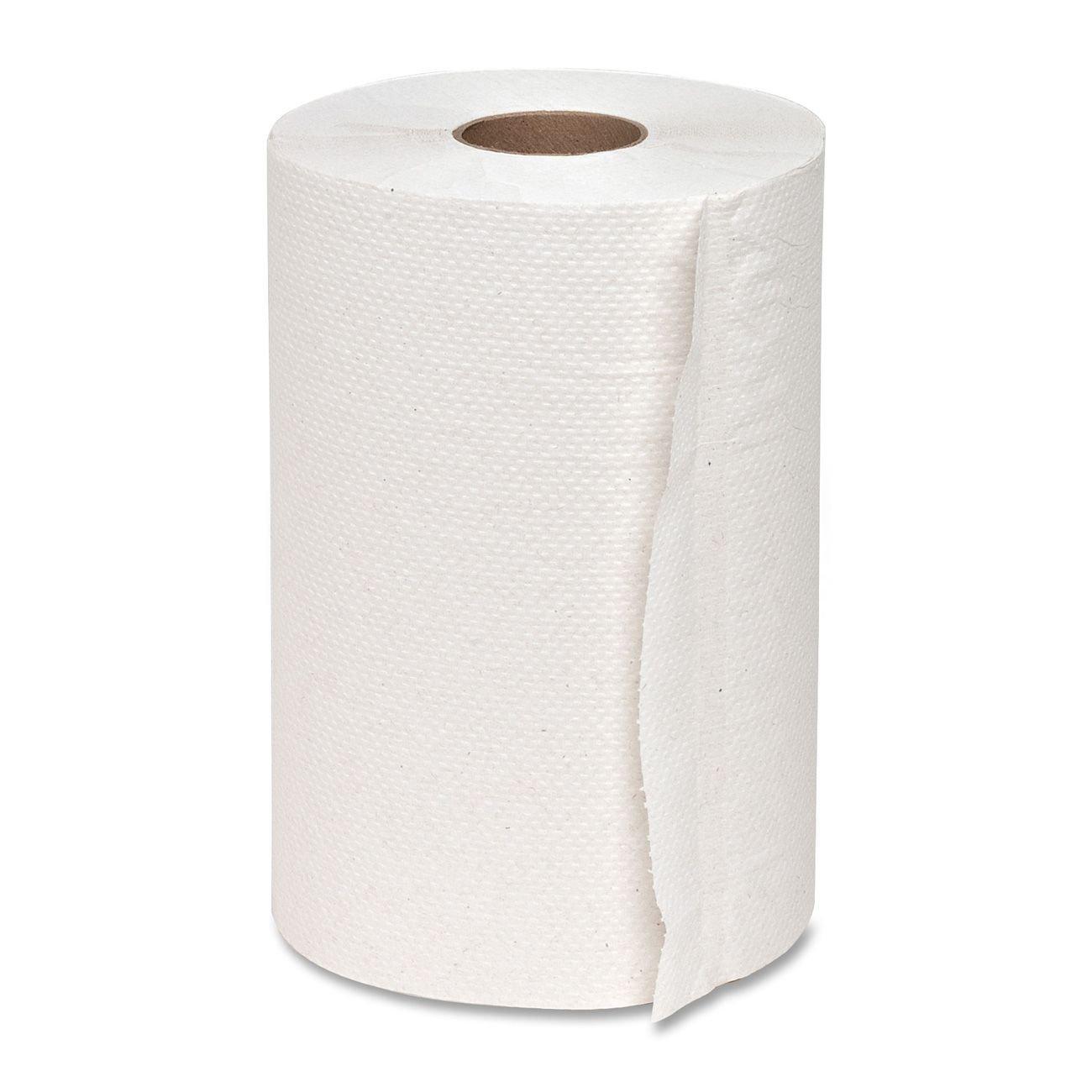 Genuine Joe GJO22300 Hard Wound Roll Towel, 350' Length x 7-8/9'' Width, White (Case of 12)