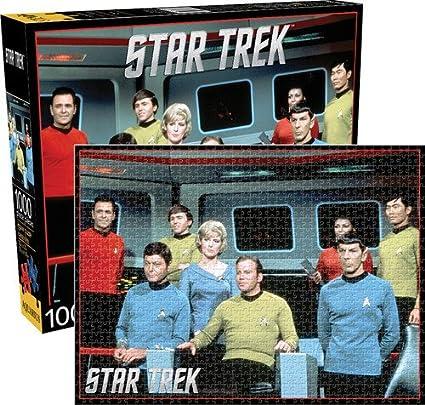 New STAR TREK 1000 Piece Aquaris Jigsaw Puzzle ORIGINAL Cast Series