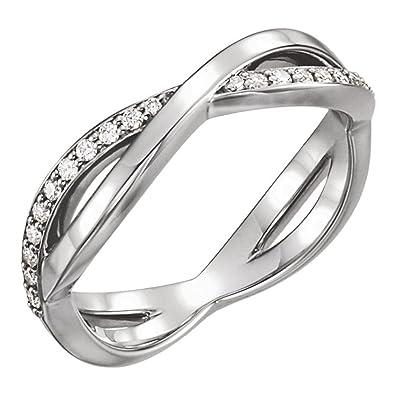 Amazoncom 048 Ct Ladies Round Cut Diamond Infinity Style Wedding
