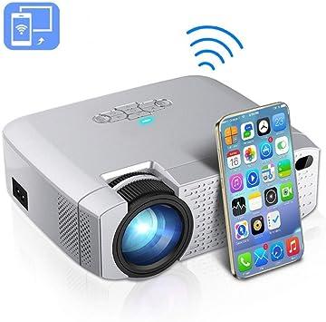 Proyector Proyectores de LED Video Beamer 1600 lúmenes HD Soporte ...