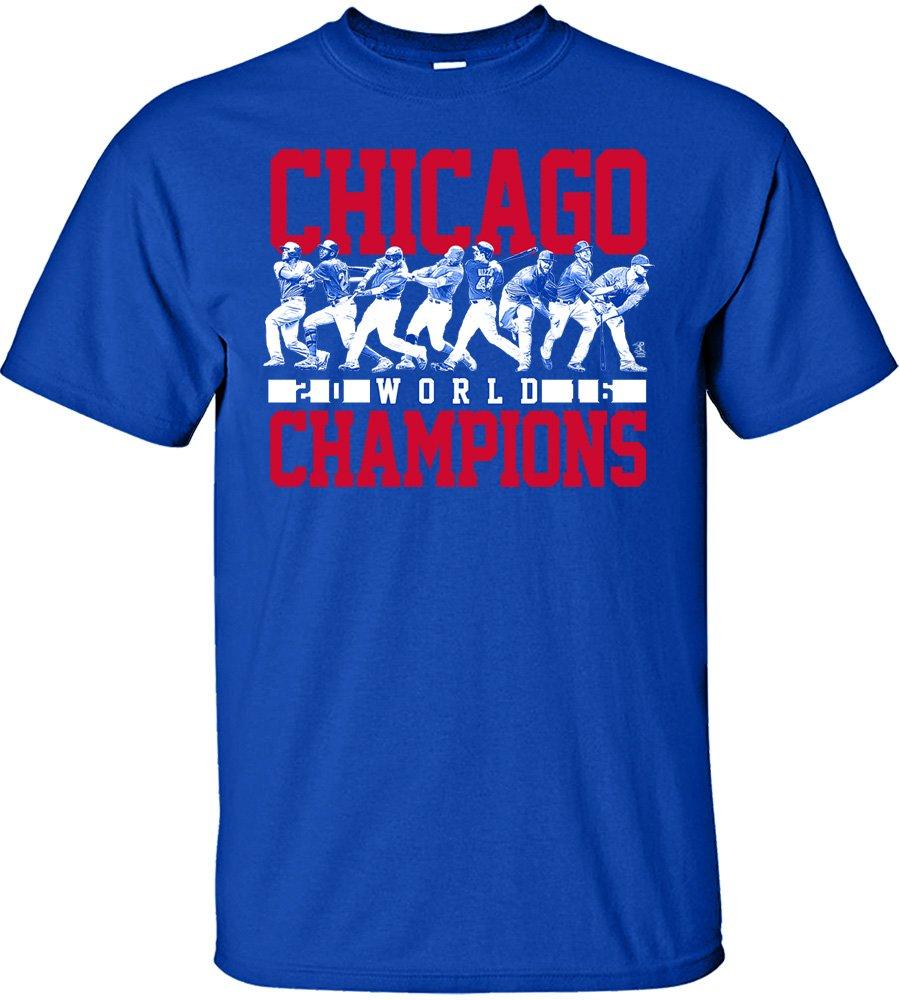 海外並行輸入正規品 MLBシカゴカブス2016ワールドシリーズチャンピオンチームラインアップデザインTシャツ、スモール B01MFANQGD、ロイヤル B01MFANQGD, トヨツマチ:e2d6f15e --- a0267596.xsph.ru