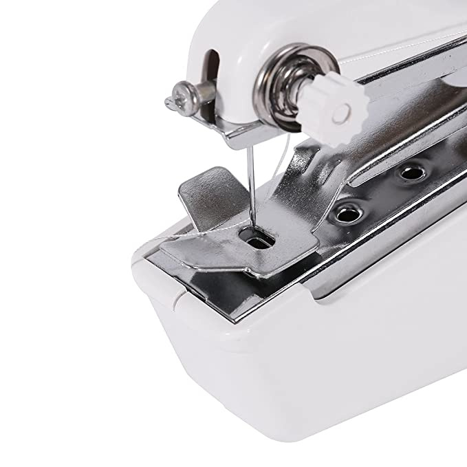 Máquina de Coser Máquina de Puntada de Costura Manual Mini Máquina de Coser a Mano Portátil para Viaje: Amazon.es: Hogar