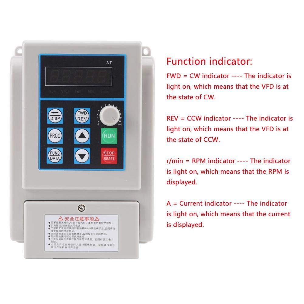 Inverter Convertitore di frequenza VFD convertitore di frequenza VFD universale da 2.2KW CA 220 V monofase per motore trifase trifase AT1-2200X