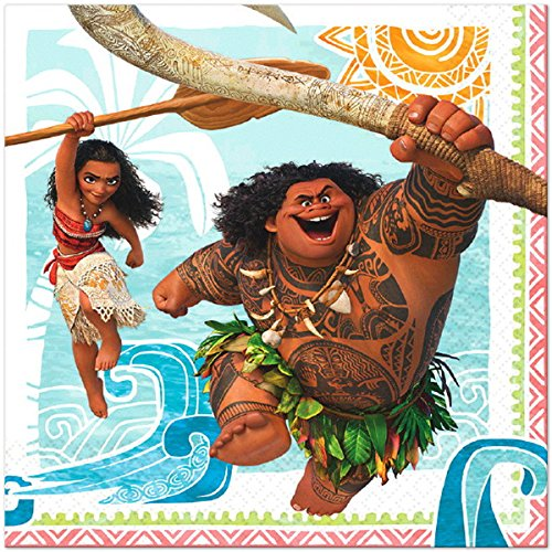 Moana Disney Hawaii Beach Napkins Lunch Party Decoration 48 Pieces Pack by DPW