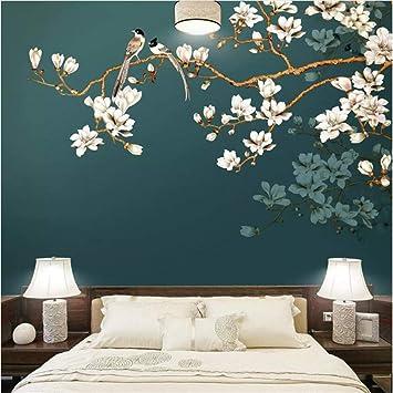 Fushoulu Personnalisé Mur Papier Peint À La Main Style Chinois Fleurs  Fleurs Oiseaux Salon Chambre Décoration