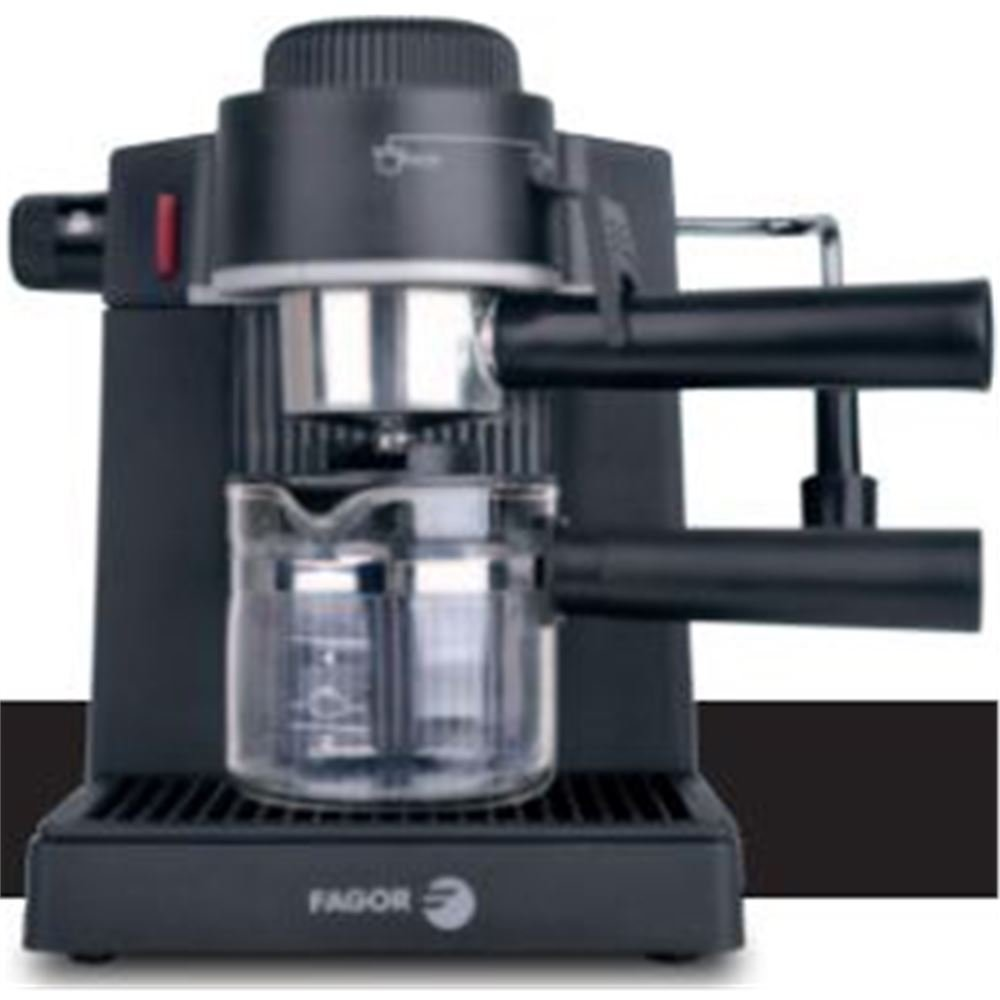 Fagor CR-750 Cafetera espresso, 750 W, 4.3 kg, Acero Inoxidable, Negro