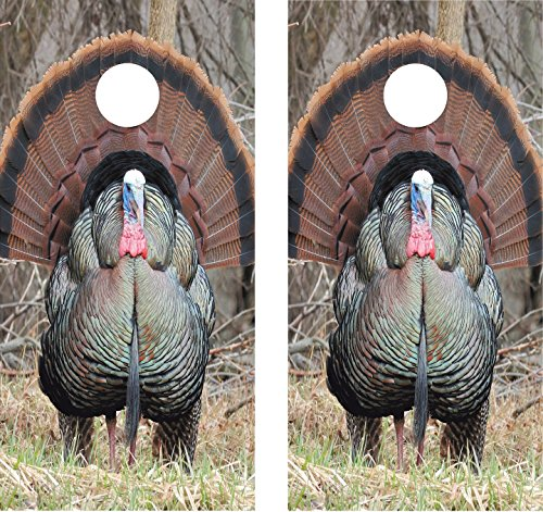 avgrafx Cornhole Wrap Decal Wild Turkey Laminated Includes 2 Decals