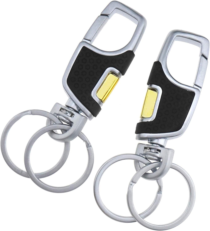 New Mens Creative Leather Strap Metal Key Chain Car Keyring Keychain Ring Keyfob