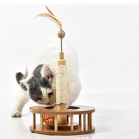 HomeYoo Acrobat Gato rascador | Poste rascador para Gatos, sisal Purrfect único Cat Scratch Post