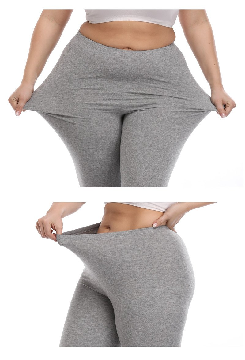 VOGUEMAX Women's Capri Leggings Plus Size Stretch and Comfy High Waisted Three-Quarter Leggings Plus by VOGUEMAX (Image #1)