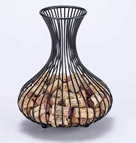 Wine Cork Holder Decorative Wine Cork Display Holder Cork Collector Countertop Catcher Cage For Wine Lovers 9 X 11 4
