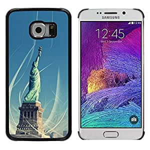 iKiki Tech / Estuche rígido - Architecture Statue Of Liberty - Samsung Galaxy S6 EDGE SM-G925