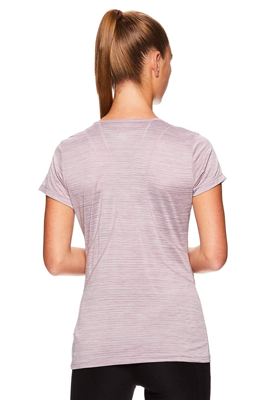 Reebok Womens Dynamic Fitted Performance Short Sleeve T-Shirt