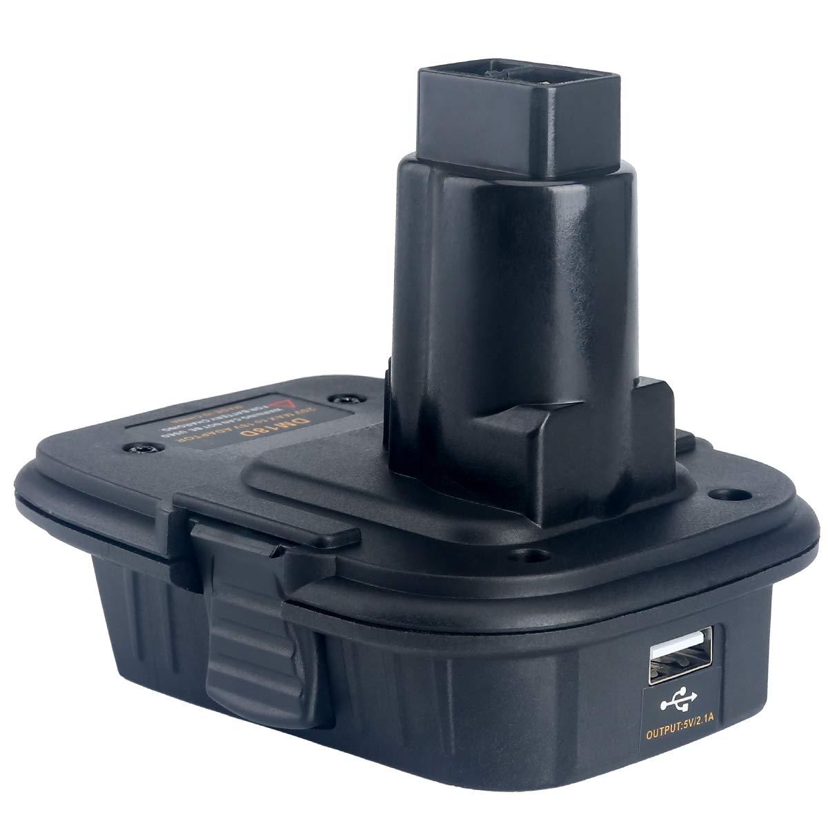 Lasica 20V Battery Adapter DCA1820 with USB port for Dewalt 18V Tools, Convert Milwaukee 18V Lithium Battery M18 DeWalt MAX 20Volt Lithium-Ion Battery DCB204 to DeWalt 18V NiCad NiMh Battery DC9096 by Lasica (Image #9)