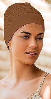 Fashy® - Damen Yogamütze, Strandmütze, Stylisch, Elastisch und rundum mit Abnähern in verschiedenen Farben (Made In Germany)