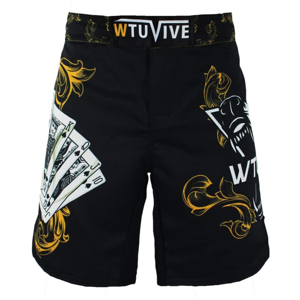 WTUVIVE MMA-Shorts f/ür Herren Boxhose Kampfsport Bedruckt Muay Thai