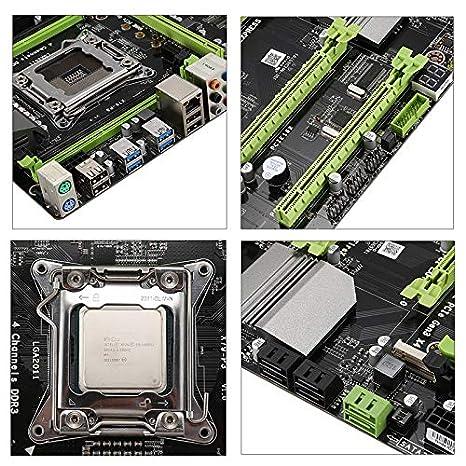 SODIAL Conjunto de Placa Base X79MS LGA2011 Combos con Intel E5 2689 2 X 8GB 16G 1600Mhz DDR3 ECC Soporte M.2 NVMe SATA3 USB3.0