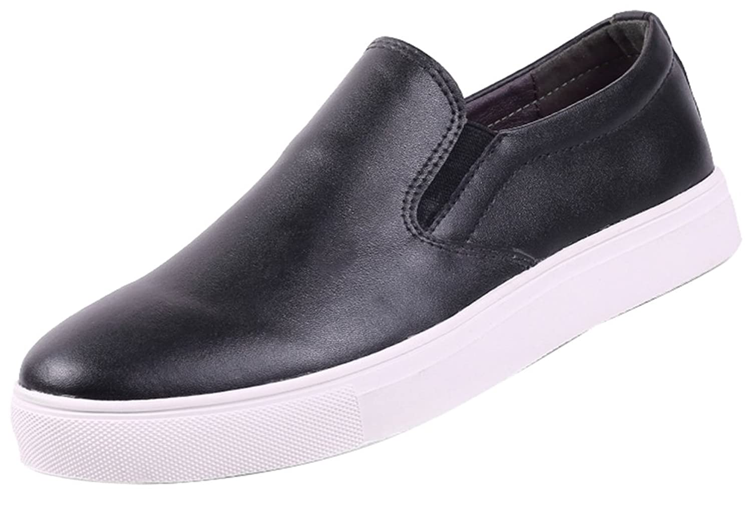 FJQY-5086 New Mens Casual Leather Charming Comfy Leisure Slip On Concise Driving Shoes