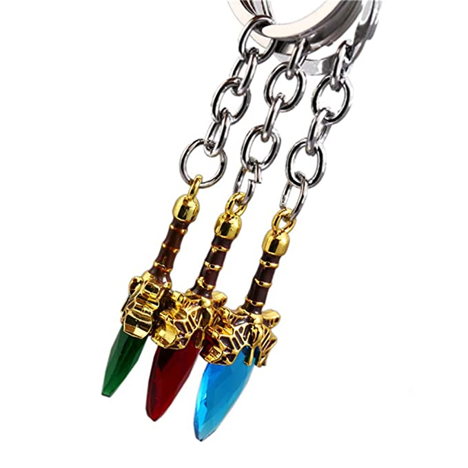 Amazon.com: HIEUSH 3 Colors Game 2 Keychain Aghanim Stone ...