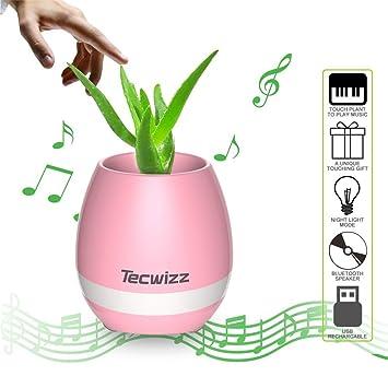 Christmas Gift - Smart Music Flowerpot, LED Flowerpot Smart - Touch ...
