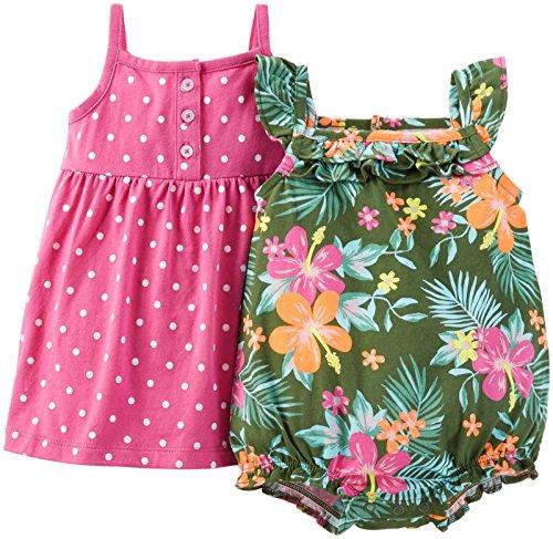 Carters Girls Piece Dress Romper