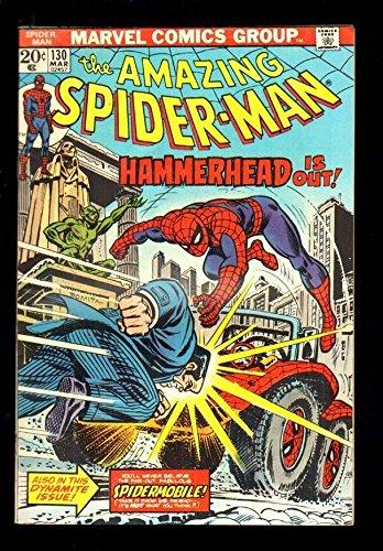 AMAZING SPIDER-MAN 130 5.5 FINE- 1974 MARVEL HAMMERHEAD