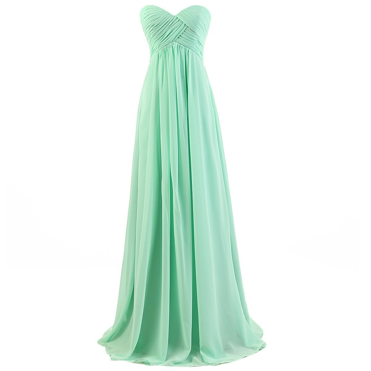 medon's Women's Strapless Sweetheart Long Chiffon Bridesmaid Prom Dresses