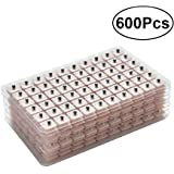 ROSENICE 600 Counts Disposable Ear Press Seeds Acupuncture Vaccaria Plaster Bean Massagee Multi-Condition Ear Seed Acupressure Kit (10 Sheets)