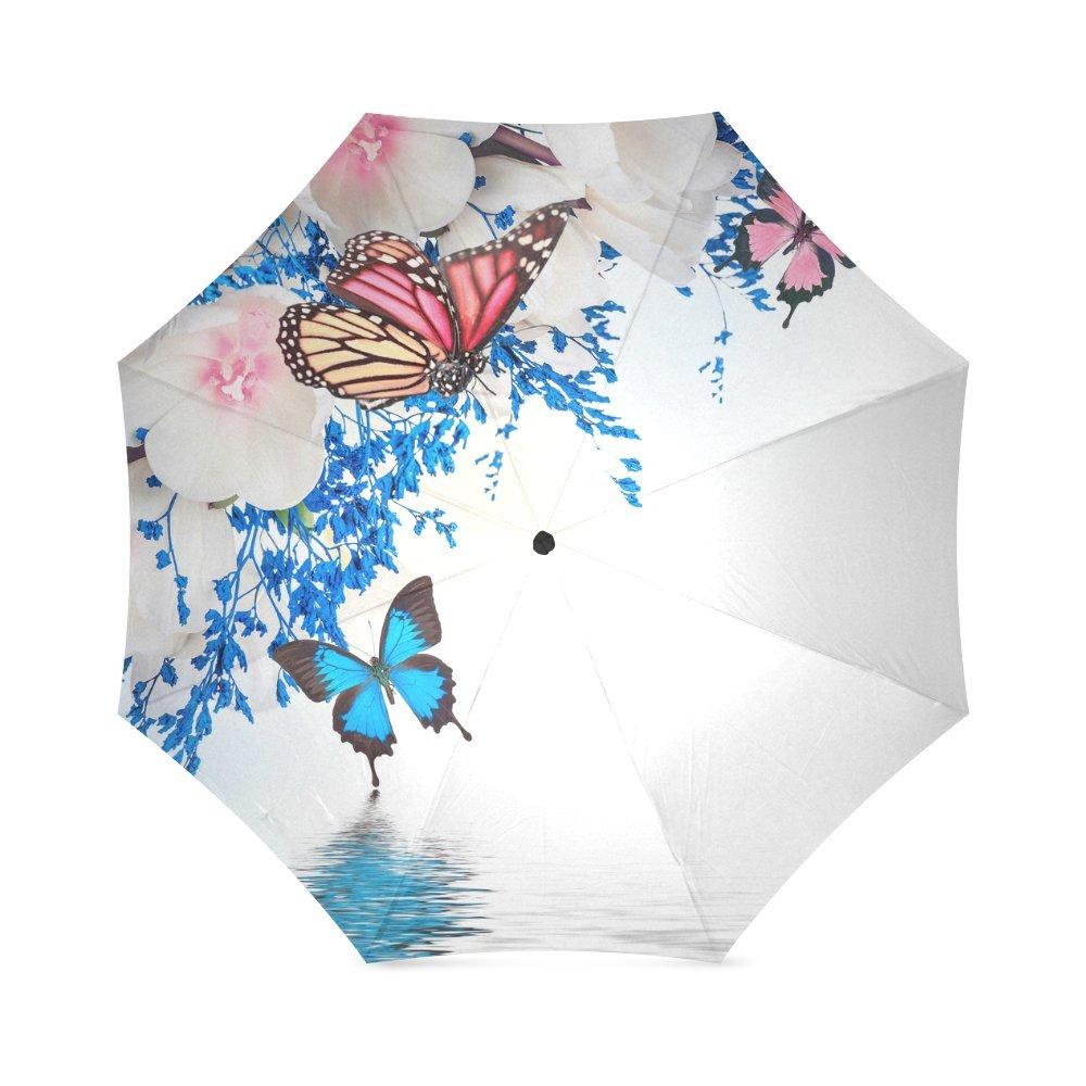 ホット販売美しいカラフルなバタフライアンチ雨防風旅行ゴルフスポーツ折りたたみ式傘   B01NBM5OGT