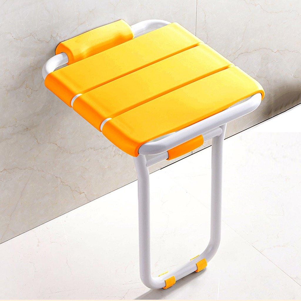 LXN 折り畳み式シャワーチェア - 高齢者、妊婦、障害者に適用 (色 : イエロー いえろ゜) B07DMDB2CM  イエロー いえろ゜