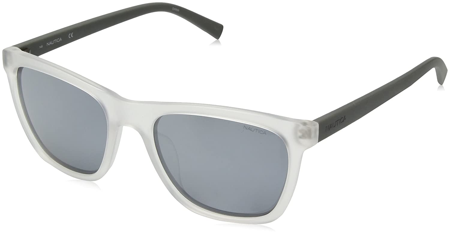 672d02e107 Amazon.com  Nautica Men s N3629sp Polarized Square Sunglasses Crystal Matte  Grey