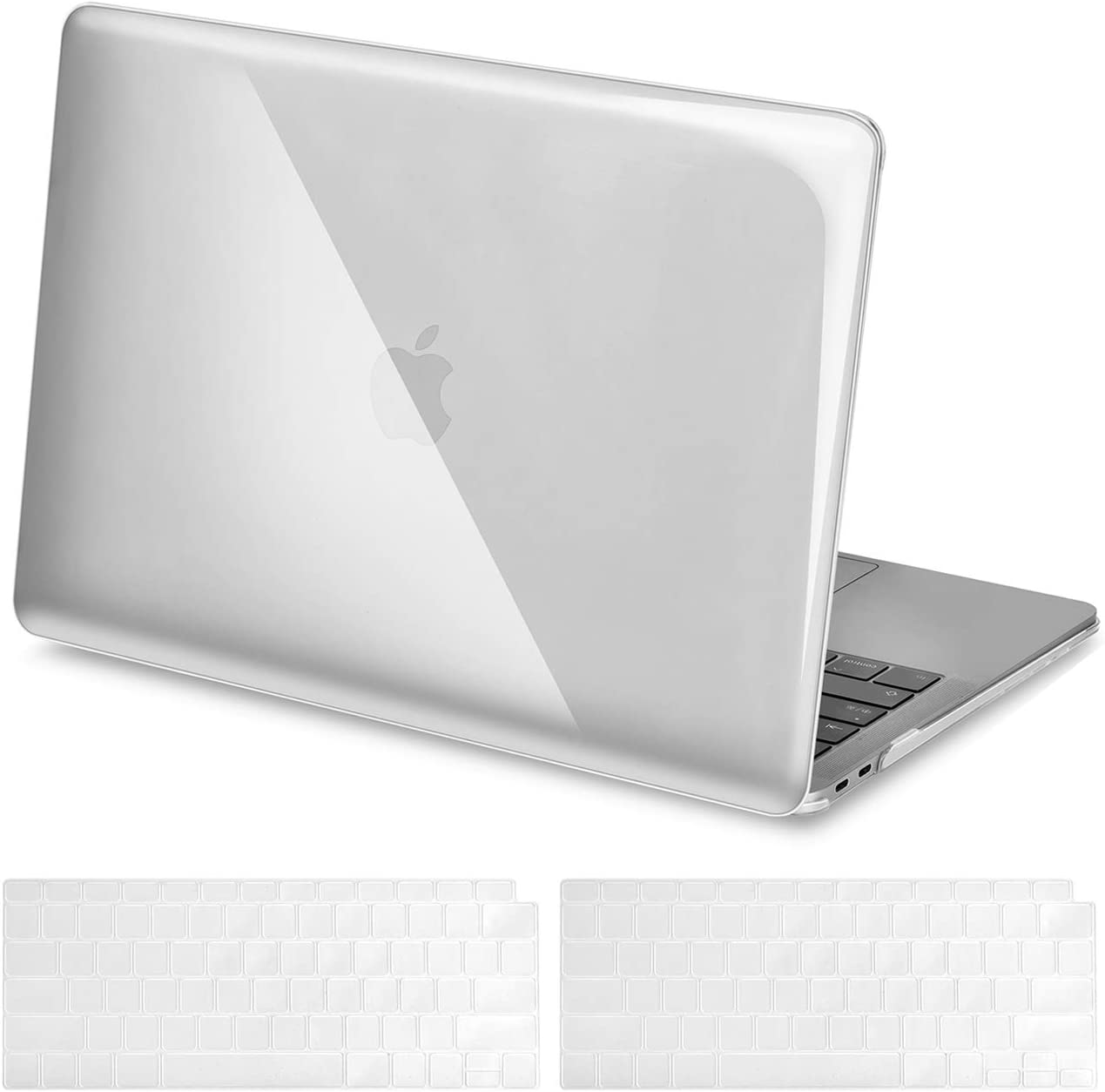 RICNUS Laptop Case for MacBook Air 13 Inch (Touch ID) 2020/2019/2018 (Model A2179/A1932) Plastic Hard Shell Cover Compatible Newest MacBook Air 13 inch.(Transparent)