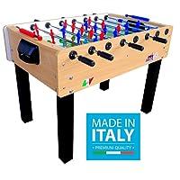 Roberto Sport Calciobalilla PROFESSIONAL SOCCER FAGGIO Aste Rientranti da Interno con Palline + SPRAY LUBRIFICANTE - ESCLUSIVA ITALIA - NOVITA' 2018