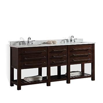 Ove Decors Harry 72 Bathroom Double Vanity In Java Brown With