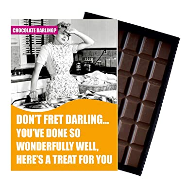 Birthday Gift For Women 85 Gram Best Luxury Boxed Chocolate Bar Present Girlfriend Wife With Funny Greetings Card Humour Amazoncouk Grocery