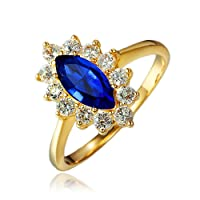 Fashion Jewellery 18K Gold Plated Engagement Wedding Eternity Ring,Women's Gifts Presents Girls