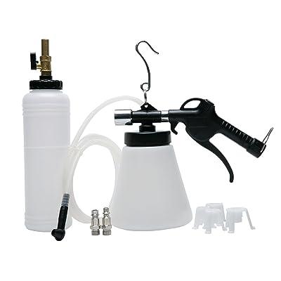 8milelake Pneumatic Brake Fluid Bleeder Tool with 4 Master Cylinder Adapters 90-120 PSI: Automotive