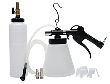 8milelake Pneumatic Brake Fluid Bleeder Tool with 4 Master Cylinder  Adapters 90-120 PSI